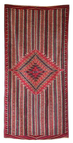 Classic Mexican Saltillo Sarape. This and more important textiles for sale on CuratorsEye.com