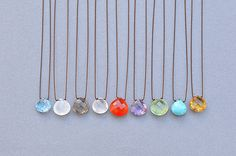 Faceted Stone Necklace (Margaret Solow) - SOURCE objects
