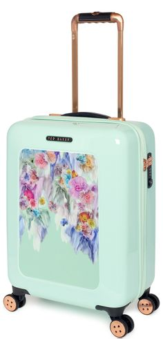 3e8170ba58b27 The gorgeous Mint Floral carry on case from Ted Baker s Take Flight  Collection. Also available in Medium and Large Check in Suitcases.