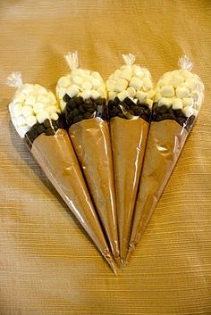Hot Chocolate gift bags