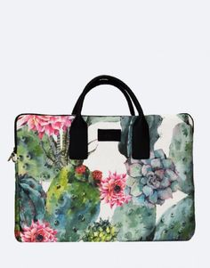 funda-portátil-cactus-1 Ted Baker, Floral, Cactus, Tropical, Tote Bag, Bags, Fashion, Laptop Sleeves, Briefcases