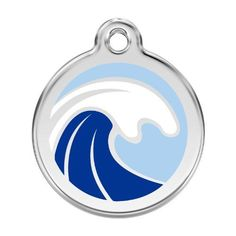 Personalized Stainless Steel  Enamel Dog Tag with Engraving  Wave Large >>> You can find more details by visiting the image link.(This is an Amazon affiliate link and I receive a commission for the sales)