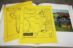 Maps--- 50 things to put into a notebook.  Great links for outline maps too....link has link to site where you can print specific maps...also can find some cool paper math ideas too.