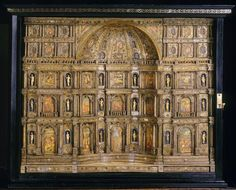 Venetian cabinet, c. 1660, in the collection of the Chateau d'Ecouen.