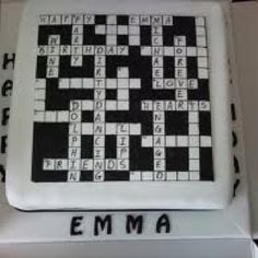 1000+ images about Crossword cake on Pinterest Crossword ...