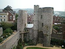 The Barbican at Lewes Castle, built in 1069 by William de Warenne, 1st Earl of Surrey, brother-in-law to William the Conqueror. (both gr, gr, gr grandfathers at several locations on my family tree.) The castle is located in Sussex, England