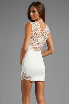 DRESS THE POPULATION Olivia Dress in Ivory- for all spring events- look at that intricate detailing at the back<3