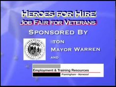 Heroes for Hire - Job Fair for Veterans - March 13th, 2013      For a FREE Virtual Career Fair, please contact http://www.jobexpo365.com/www/takeatour.php