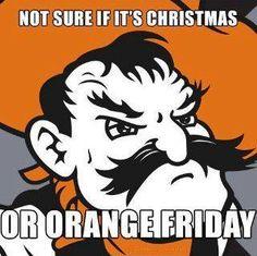 Orange Friday! #OkState Go Pokes!