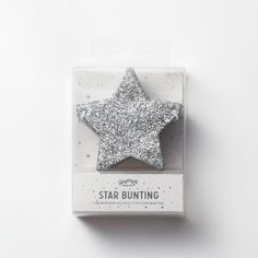 【Ginger Ray】 Star Glitter Bunting-Sliver |LOUNGE WEDDINGのガーランド・リングピロー