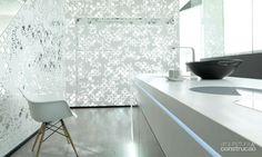 Renda: da moda o Krion – superfície sólida, resistente e antibacteriana, desenvolvida pela Systempool, da espanhola Porcelanosa para a arquitetura e o design - Casa