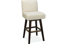 Lee Industries 7001-52SW Swivel Bar Stool in White Wash Finish for legs.