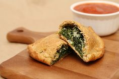 Whole Wheat Spinach Ricotta Calzones