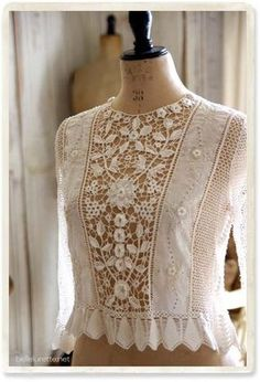 New crochet lace blouse ideas Ideas Fashion Details, Boho Fashion, Vintage Fashion, Fashion Design, Style Fashion, Fashion Ideas, Dress Fashion, Fashion Clothes, Trendy Fashion