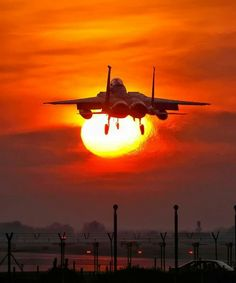 F-15 - Great shot with the sun in the background