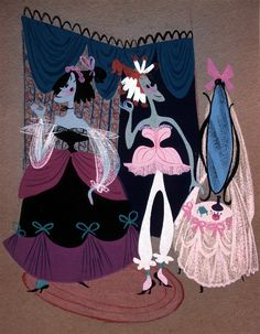 Mary Blair, the ugly step sisters #cinderella