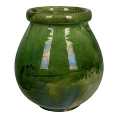 For Sale on - An earthenware pottery vase from the Southwest of France with traditional green glaze. We have a large collection of French pottery. Please see other listings. French Country House, French Country Decorating, Pottery Vase, Ceramic Pottery, Earthenware, Stoneware, Rustic Ceramics, English Pottery, Urn Vase