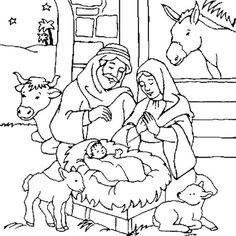 Nativity Coloring Pages, Bird Coloring Pages, Christmas Coloring Pages, Coloring Books, Xmas Drawing, Painting Templates, Christian Crafts, Christmas Activities For Kids, Nativity Crafts