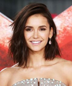 """These Are the Biggest Hair Trends of 2017 & They're Taking Over Pinterest: Nina Dobrev's bob is another big trend this year, with """"choppy bob"""" search up 68 percent from last year. 