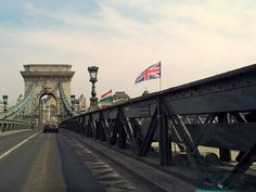 British flag on the Chain Bridge
