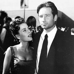 Gillian and David - celeb black & white