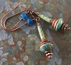 serpentine and blue sky earrings 001 | Flickr - Photo Sharing!