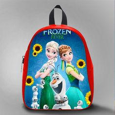Frozen Fever New, School Bag Kids, Large Size, Medium Size, Small Size, Red, White, Deep Sky Blue, Black, Light Salmon Color