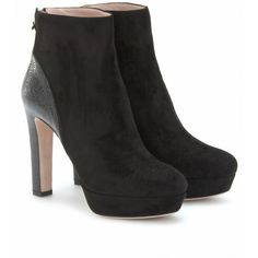 mytheresa.com - Miu Miu - SUEDE AND EEL EMBOSSED ANKLE BOOTS - Luxury Fashion for Women / Designer clothing, shoes, bags