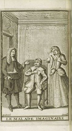 Les Oeuvres de Monsieur de Molière, Paris, 1682 - Le malade imaginaire, frontispice par Pierre Brissard - Paris, Bibliothèque Nationale de France