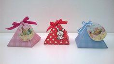 Cajita piramidal de papel para regalar huevo de pascua - scrapbook - origami. Vídeo-tutorial.