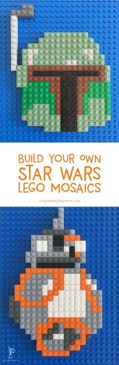 Teach your child problem solving, fine motor skills, patience and more with these free printable lego mosaic guides. Great idea for a boredom buster! #boredkids