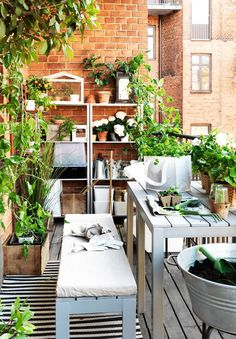 Put your green thumb to work! Find IKEA outdoor plant pots, plant stands, growing accessories and watering cans to help turn your backyard, patio or porch into a beautiful garden. Small Balcony Garden, Small Patio, Outdoor Spaces, Outdoor Living, Outdoor Decor, Ikea Outdoor, Ikea 2014, Ikea Portugal, Ikea Plants
