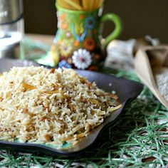 Copy Cat Rice-a-Roni that is healthy. Broken Spaghetti Rice Pilaf - Low Calorie, Low Fat Dinner Recipe.