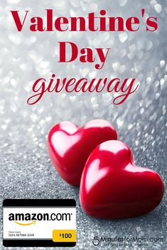 Valentines Day Giveaway - Win a $100 Amazon Gift Card to treat yourself on Valentine's Day. Open to US and Canada. Ends Feb 13.