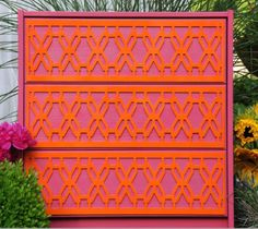 Use overlays on DIY or upcycled furniture