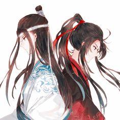 Wei Wuxian and Lan Wangji Anime Art Girl, Manga Girl, Anime Guys, Manga Anime, Teen Couples, Anime Couples, Manhwa, Chinese Fairy Tales, Manga Books