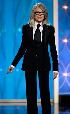 I <3 Diane Keaton - a big style Icon of mine - If I look half this great at her age I'll be rockin'... Golden Globes 2014...