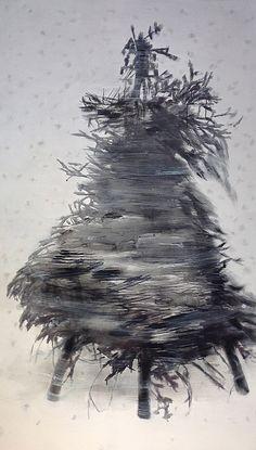 "Blizzard - 2015 acrylic on canvas 68"" x 39"""
