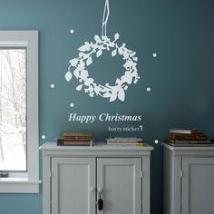 リース #ウォールステッカー#クリスマス#サンタクロース#サンタ#ツリー #SantaClaus#Christmas#tree#wallsticker