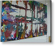 Illusive Painting Acrylic Print by Mike Dendinger