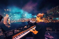 My Ushuaïa residency is over for 2016😔 Thanks to everyone who came out to the shows! And thanks so much to James Blunt for joining me on stage for the last show🙌🏼 until next time Ibiza✌🏼️Kygo, August 2016