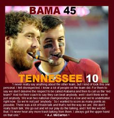 2013 Alabama vs. Tennessee. Love this guy. His class is going to be hard to follow in years to come. Alabama is going to miss him next year.