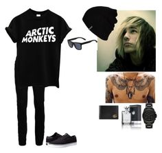 """""""ootd~Danny"""" by to-infinityandbeyond-anons ❤ liked on Polyvore featuring Topman, Lakai, Michael Kors, Gucci, Hurley, Lacoste, Bulgari, men's fashion and menswear"""