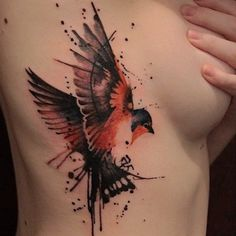16 adorable bird tattoos are here http://bit.ly/RslWU8 tattoo by Gene Coffey