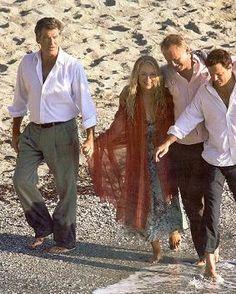 Mamma Mia Filming took place on Skopelos Island, Greece. (pic via Mamma Mia Filming took place on Skopelos Island, Greece. (pic via Mamma Mia, Meryl Streep, Movie Photo, I Movie, Amanda Seyfried Photos, Here I Go Again, Cinema, Pierce Brosnan, Film Serie