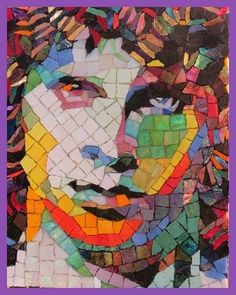#JimMorrison #iconicimages #glassart #Mosaicportrait#comeonbabylightmyfirelight