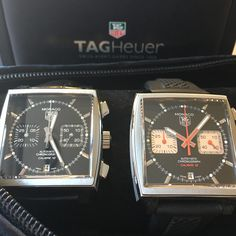 The most iconic of collection from Tag Heuer. Are you a fan of the Monaco? #DailyDuo