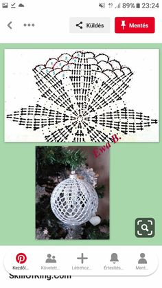 Christmas Crochet Patterns, Crochet Ornaments, Christmas Time, Christmas Bulbs, Crochet Art, Snowflakes, Diy And Crafts, Crochet Earrings, Knitting
