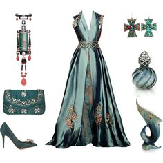 A fashion look from January 2015 featuring Bruno Magli pumps. Browse and shop related looks. Beautiful Gowns, Beautiful Outfits, Elegant Dresses, Pretty Dresses, Ball Dresses, Ball Gowns, Mode Kpop, Fantasy Dress, Mode Inspiration