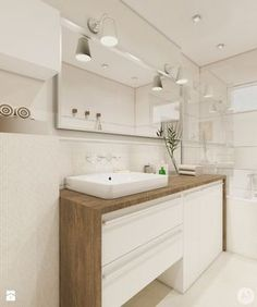 Projekt łazienka w ciepłych kolorach - 'makeover' - Średnia łazienka, styl nowoczesny - zdjęcie od A1Studio
